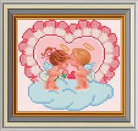 Схема для вишивки бісером Закохані ангелята. Арт. СД-152