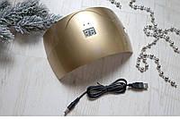 """Гибридная лампа """"uv+led"""" с датчиком движения и дисплеем. Сушит гель-лак 30 сек."""