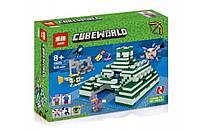 """Конструктор Lepin 18029 """"Подводный храм"""" (реплика Lego Майнкрафт, Minecraft 21136), 828 дет, фото 1"""
