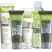 Набір жіночий з 5 продуктів Avon Clearskіn «Зменшення часу та блиску»
