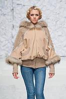 Пальто женское в 2х цветах Мишель енот, фото 1
