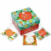 """Шоколадный набор- куб """"Казкових Свят""""  70 гр. (10 конфет)"""