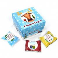 """Шоколадный набор- куб """"С Новым Годом""""   70 гр. (10 конфет)"""