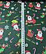 Хлопковая ткань Санта Клаус с подарками на зеленом (Корея) №255, фото 2