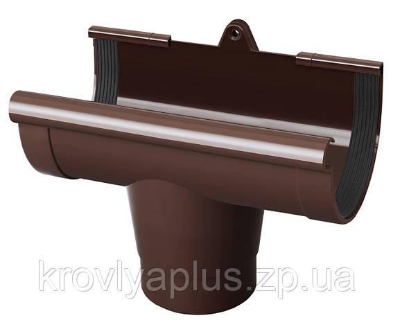 Воронка (ливнеприемник) желоба водосточного Ø90 (Rainway, Украина), коричневая., фото 2