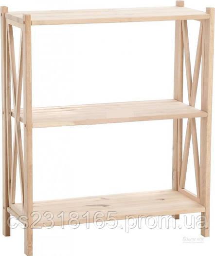 Стеллаж деревянный Прованс 86*70*30см, 3 полки
