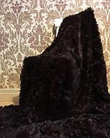 Бамбуковый плюшевый плед-покрывало  Турция шоколад