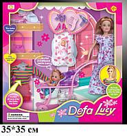 Кукла DEFA 8049 с нарядом, беременная, ребенок, аксессуары, коляска, собака