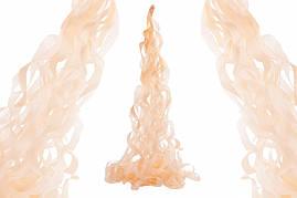 """Спираль тассел """"Персиковая"""", 80 см."""