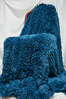 """Меховое плюшевое покрывало с длинным ворсом  """"Лагуна"""" Турция в подарочной упаковке"""