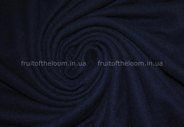 Глубоко тёмно-синее  мужское поло 65/35