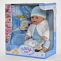 Пупс Baby born BB BL 030 A, с пьет из бутылочки, кушает кашу, ходит на горшок, можно купать в воде, пупсики