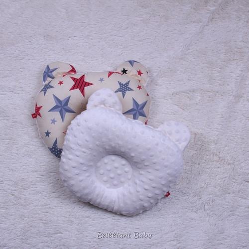 Детская ортопедическая двухстороняя подушка Minky (молоко)