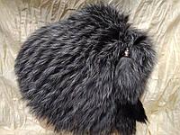 Меховая шапка из меха кролика серый с чёрным, фото 1