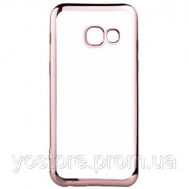 Прозрачный силиконовый чехол для Samsung A520 Galaxy A5 (2017) с глянцевой окантовкой (18216) (18216)
