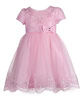 Нежно-розовое детское нарядное платье для девочек