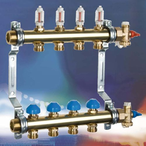 Коллектор WATTS HKV2013A для теплых полов с расходомерами на 12 контуров