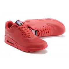Женские кроссовки  Nike Air Max 90 Hyperfuse красные