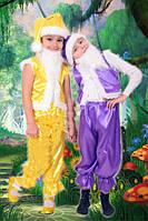 Детский новогодний костюм Гномик фиолетовый на 3-7 лет