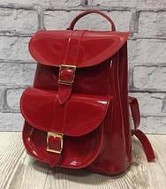 121 Натуральная кожа Городской кожаный женский рюкзак черный сумка-рюкзак из натуральной кожи черная, фото 3
