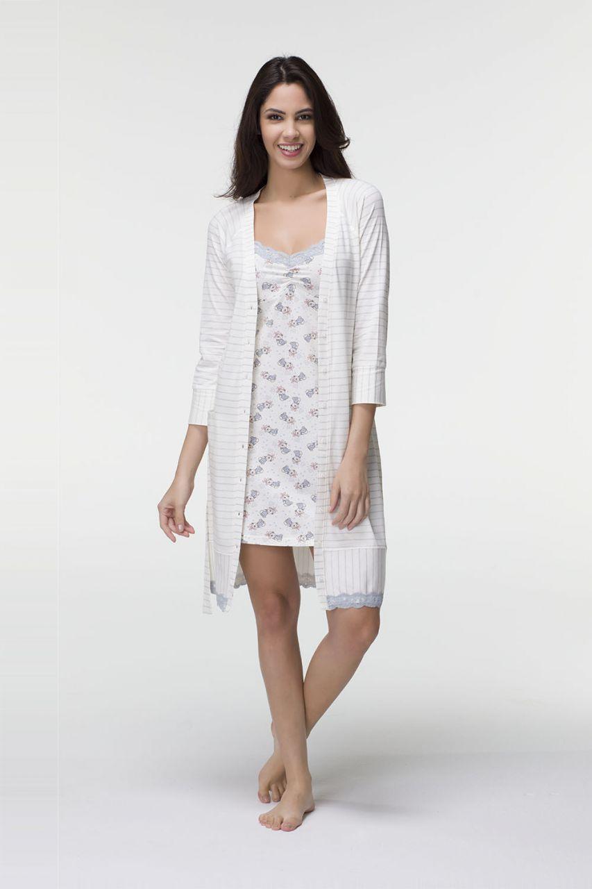 Комплет 2-ка нічна сорочка з халатом Hays 6508