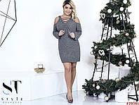 Платье-туника вязка со шуровкой (размер универсальный 48-52)