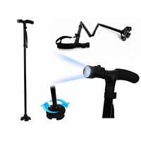 Прогулочная трость Ultimate Magic Cane шарнирная сборная с подсветкой , 1000332, Телескопическая трость, трость с подсветкой, трость для хотьбы,