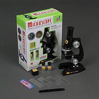 Микроскоп С 2119 (48/2) с аксессуарами, на батарейках, в коробке