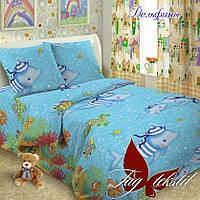 Комплект постельного белья подростковый Дельфины Поплин