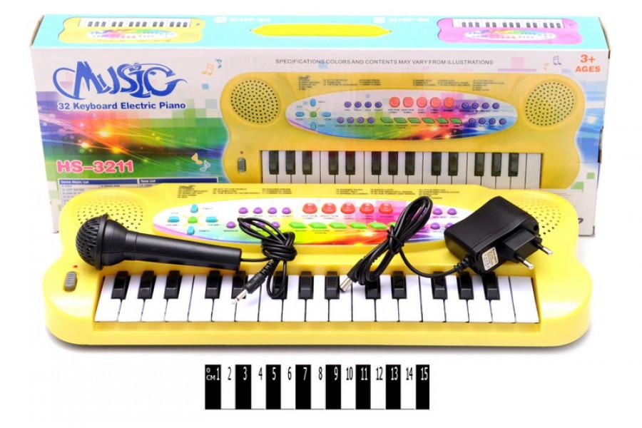 Детский синтезатор с микрофоном HS3211В, пианино