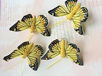 Бабочки декоративные 5,5*3,5см 4шт, фото 1