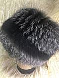 Зимова хутряна кубанка з блюфроста срібло, фото 4