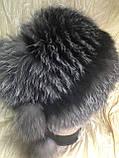 Зимова хутряна кубанка з блюфроста срібло, фото 7