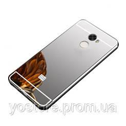 Металлический бампер с акриловой вставкой с зеркальным покрытием для Xiaomi Redmi 4 (17420) (17420)