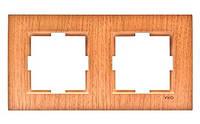 Двойная горизонтальная рамка VIKO Novella Бук