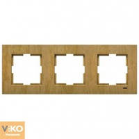 Тройная горизонтальная рамка VIKO Novella Бук