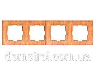 Четверная горизонтальная рамка VIKO Novella Бук