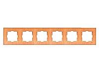Шестерная горизонтальная рамка VIKO Novella Бук