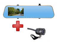 Зеркало с видео регистратором DVR SZ +камера заднего вида