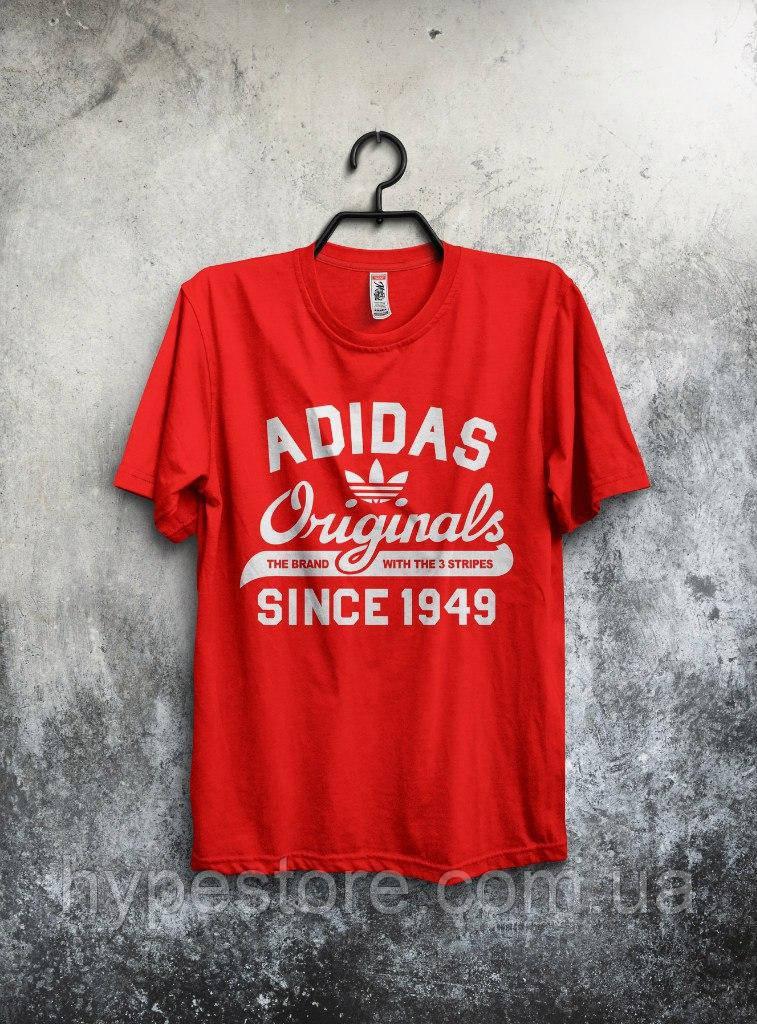 Футболка мужская Adidas Originals 1949 (красный), Реплика