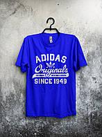 Футболка мужская Adidas Originals 1949 (синий), Реплика