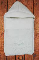 """Зимний конверт для новорожденного на овчине. Конверт одеяло на выписку и прогулку """"Роза"""""""