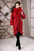 Женское зимнее пальто 44-54 р красный