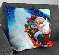 "Декоративная подушка ""Дед Мороз с подарками"""