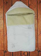 """Зимний конверт для новорожденного на овчине. Конверт одеяло на выписку и прогулку """"Бабочки"""""""