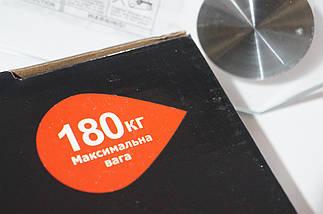 Весы напольные Wimpex до 180 кг стеклянная платформа, фото 3