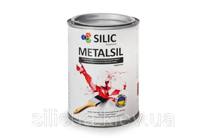 Акриловая краска по металлу с молотковым эффектом Metalsil