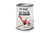Алкидно-стирольная, антикоррозионная эмаль по металлу с молотковым эффектом Metalsil банка 750 г.