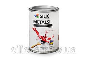 Алкидно-стирольная, антикоррозионная эмаль по металлу с молотковым эффектом Metalsil