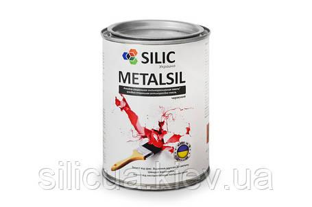 Акриловая краска по металлу с молотковым эффектом Metalsil, фото 2